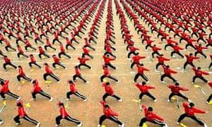 martial arts training at Shaolin temple