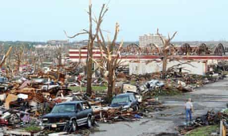 Tornado destruction in Joplin, Missouri