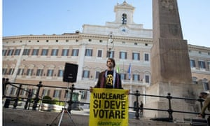 Anti-nuclear protest in Italy