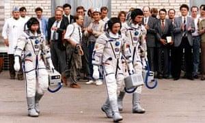 Helen Sharman, Britain's first cosmonaut, in 1991.