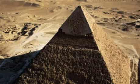 The pyramid of Chephren at Giza, Egypt