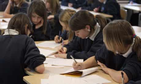 School students in classroom