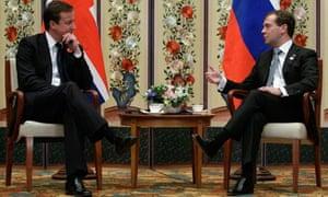 David Cameron and Dmitry Medvedev