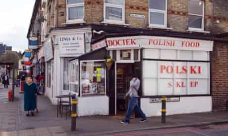 A Polish food shop in Colliers Wood, South London