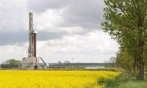 Ashale gas rig in Lebien, Poland