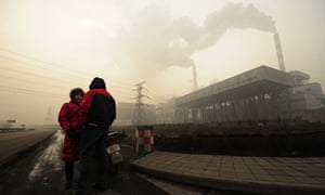 A coal-powered power plant in the notoriously polluted city of Linfen in Shanxi province