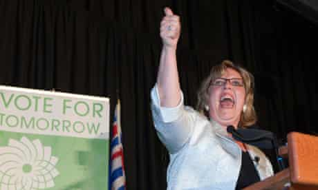 Leader of the Green party of Canada Elizabeth May
