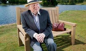 John Sergeant on National Trust's talking bench