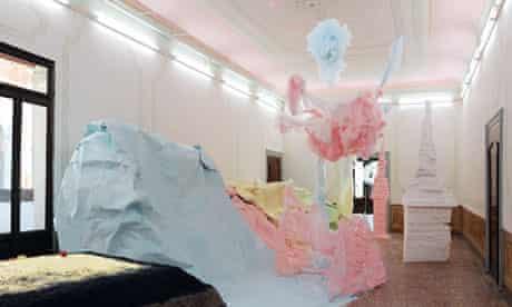 Karla Black's solo exhibition in the Palazzo Pisani, Venice