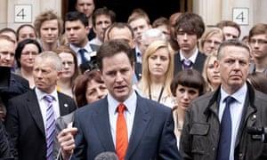 Nick Clegg 7 May 2010