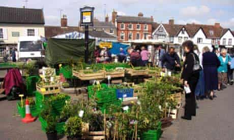 Framlingham market square, Suffolk