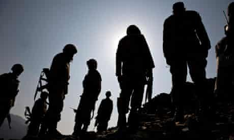 Pakistani soldiers in South Waziristan