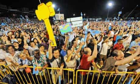 Singapore election rally