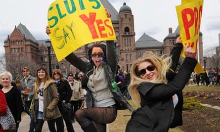 Magdalena Ivasecko and Sierra Chevy Harris at the first Toronto SlutWalk