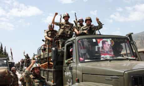 Soldiers in Syrian town of Jisr al-Shughour