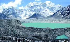 Lake Imja Tsho in a valley situated south of Mount Everest in Nepal