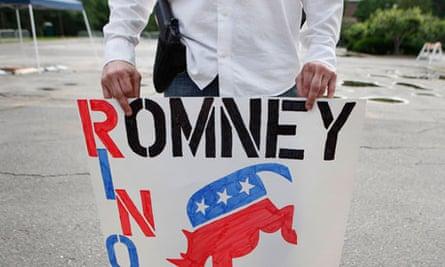 A supporter of Mitt Romney