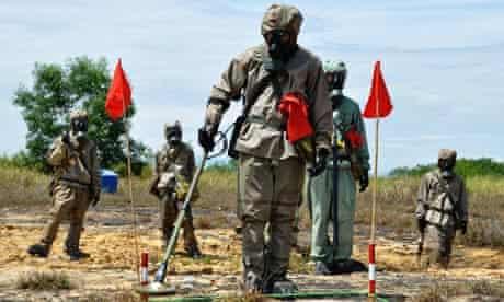 Vietnamese mine sweepers in Da Nang