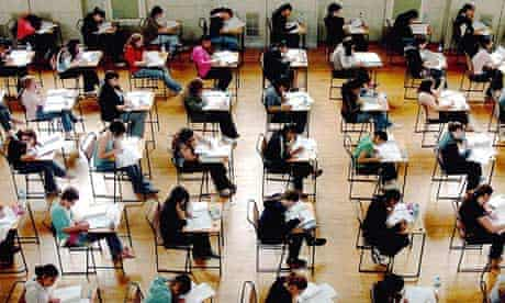Students sit their AS level exams