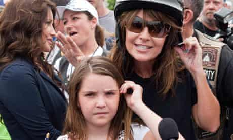 Sarah Palin with her daughter Piper