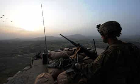 US soldier in Khost province Afghanistan