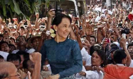 Burmese democracy leader Aung San Suu Kyi