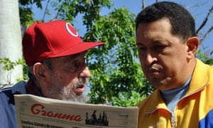 Meeting of Chavez and Fidel Castro