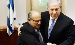Binyamin Netanyahu with Meir Dagan as the spymaster left his post as head of Mossad in January