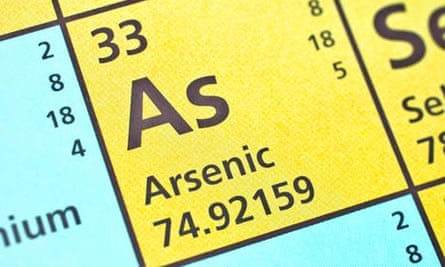 Periodic table showing arsenic