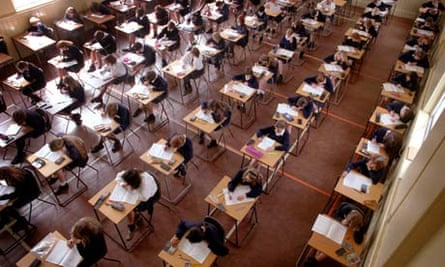 Pupils sit their exams