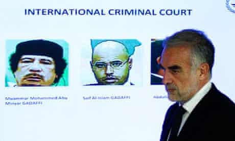 Gaddafi and son Saif