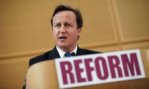David Cameron on public services reform