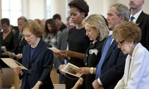 First ladies at Betty Ford funeral