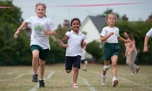 School sports day race