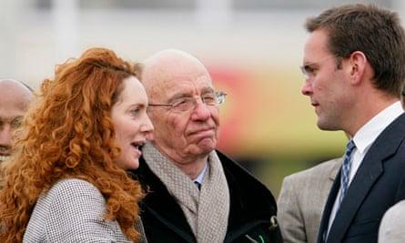 Cheltenham Horse Racing Festival - Rebekah Brooks (formerly Wade) with Rupert and James Murdoch