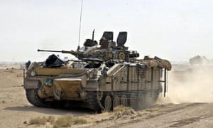 Warrior Armoured Personnel Carriers from B Company, The Black Watch,