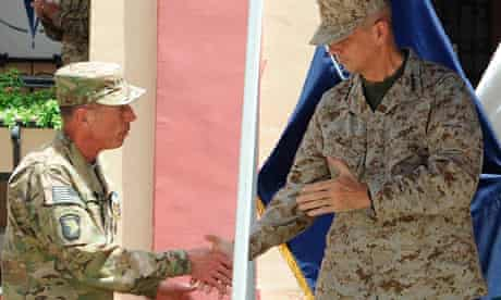 General David Petraeus hands over command