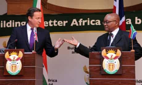 David Cameron visits South frica