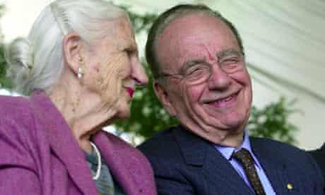 Rupert Murdoch with his mother