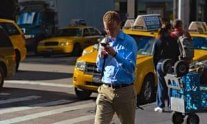 walking and texting