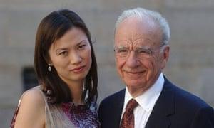 Wendy Deng with her husband Rupert Murdoch, 2002