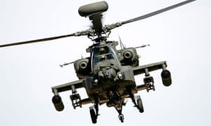 The Apache helciopter's target was an insurgent in the area.