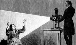 Jean Martin Charcot inducing hypnosis using a magic lantern.