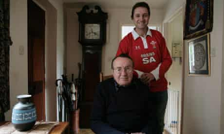 Jasper Rees with his father.