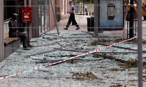 Norweigan government building destroyed by bomb