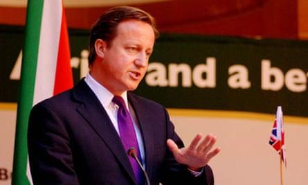 MDG : David Cameron addresses a media conference in Pertoria