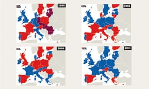 The changing political map of Europe  World news  The Guardian