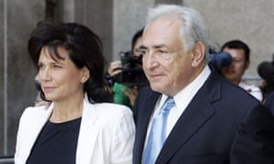 Dominique Strauss-Kahn and his wife
