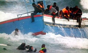 Migrants helped from water in April