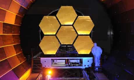 A Nasa engineer begins testing the first flight-ready segments of the James Webb telescope.
